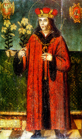 The three-handed painting of Saint Casimir is considered miraculous. The original is in Saint Casimir's Chapel in Vilnius Cathedral.