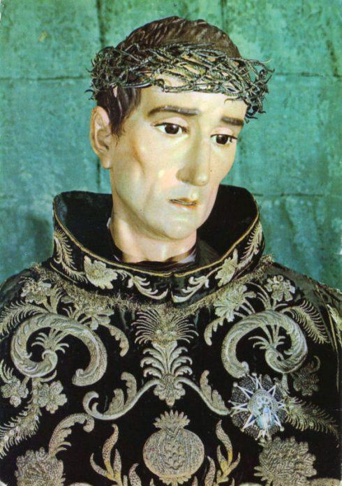 Statue of St. John of God by Bernardo de Mora at the Basilica de San Juan de Dios in Granada.