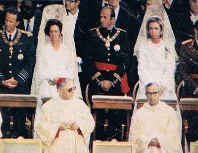 The Queens of Belgium and Spain at the Papal Mass of John Paul I, 1978.