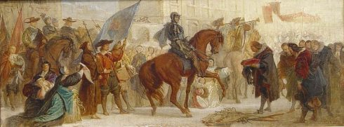 Duke Maximilian I in Prague after the victory on the White Mountain in 1620