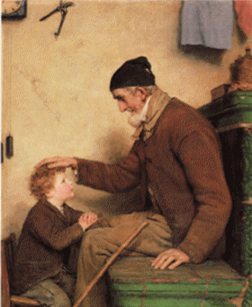 Painting by Albert Anker