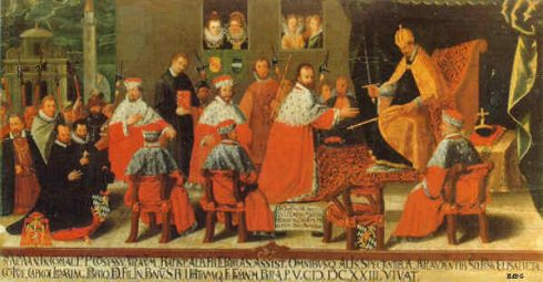 Presentation of the Electorate of Duke Maximilian I of Bavaria at the Regensburg Princes 1623