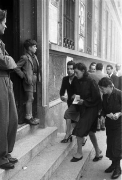 The fall of the Savoy dynasty. Voters go to the polls in Rome for the 1946 referendum on the choice between the Monarchy or the Republic.