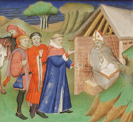 St. Alphege being asked for advice.