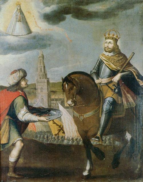 Surrender of Seville to Saint Ferdinand, painted by Gregorio Vásquez de Arce y Ceballos