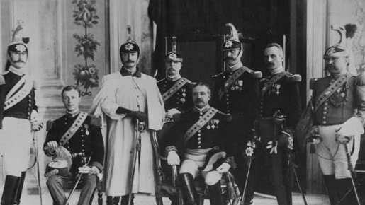 Picture of a few of the soldiers of the Papal Noble Guard: The Commanding General, along with the Colonel and two Brigadier Generals.
