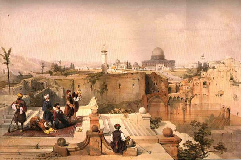 Arabs Painting by David Roberts 1840