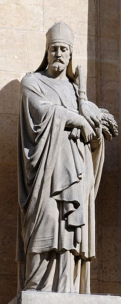 Statue of St. Honoratus by Eugène Aizelin, photo by Jastrow