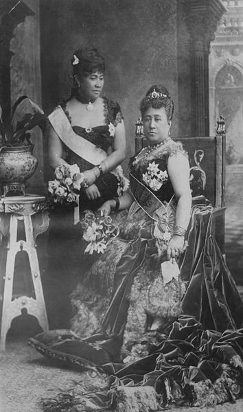 Queen Kapiolani and Crown Princess Liliuokalani at Queen Victoria's Golden Jubilee.