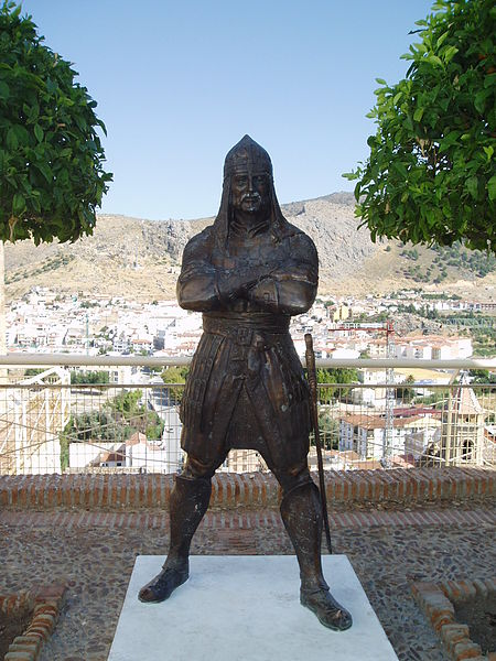 Ibrahim Ali-al-Atar, statue in Loja, Granada, of Aliatar. Photo by Menesteo