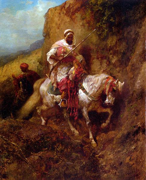 Arab soldier by Adolf Schreyer