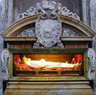 The Incorrupt body of Bl. Imelda in the Church of San Sigismondo in Bologna, Italy.