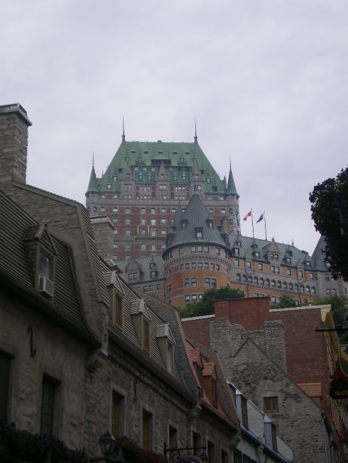 Quebec City. View of the Château Frontenac from the Vieux-Québec (Old Quebec).