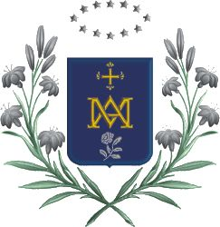Original shield of the Order of the Company of Mary, Our Lady, founded by St. Jean of Lestonnac.