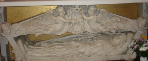The tomb of St. Jeanne de Lestonnac in the chapel of Notre Dame School.