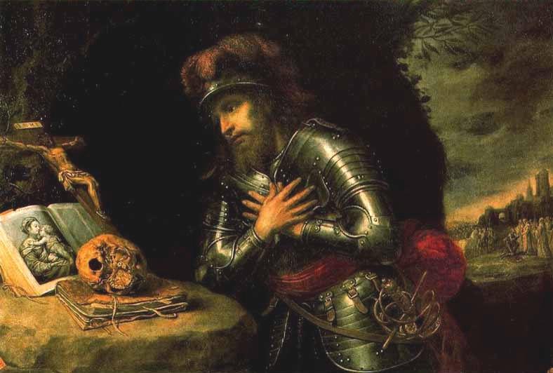Painting of Saint William of Gellone by Antonio de Pereda