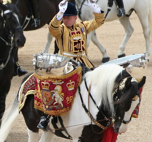 Massed Mounted Band Trooping the Colour. Photo by Jon.