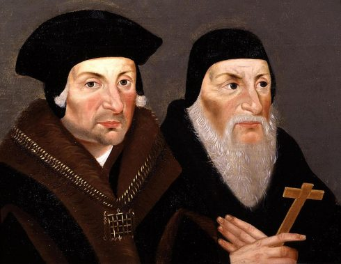 A 1660s English School painting of St. Thomas More and St. John Fisher.