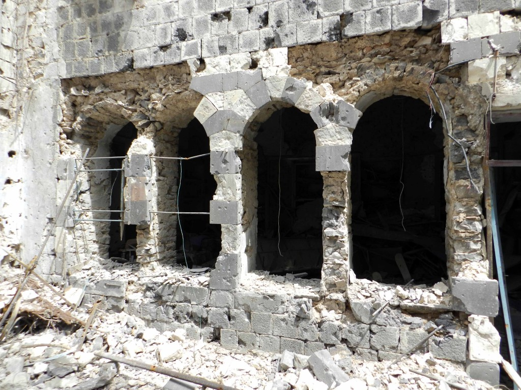 Destruction in Bab Dreeb area in Homs, Syria. Photo by Bo yaser