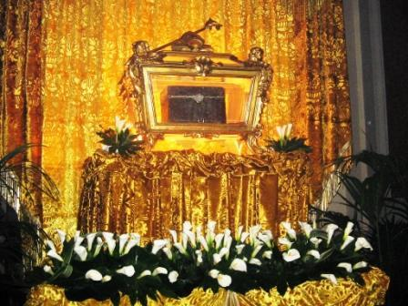 The Relics of St. Paulinus of Nola at the Cathedral of Nola.