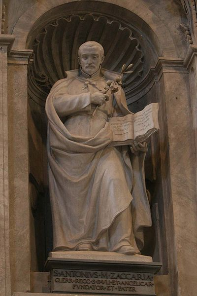 Statue of Saint Anthony Mary Zaccaria, at St. Peter's Basilica, Vatican.