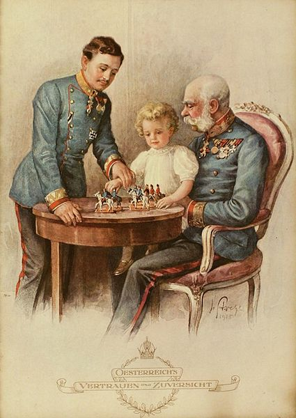 The Imperial family, Franz Joseph I,  Karl I and Otto of Austria.
