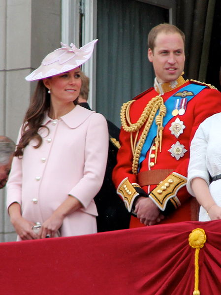 The Duke and Duchess of Cambridge on the balcony of Buckingham Palace, June 2013. Photo by Carfax2