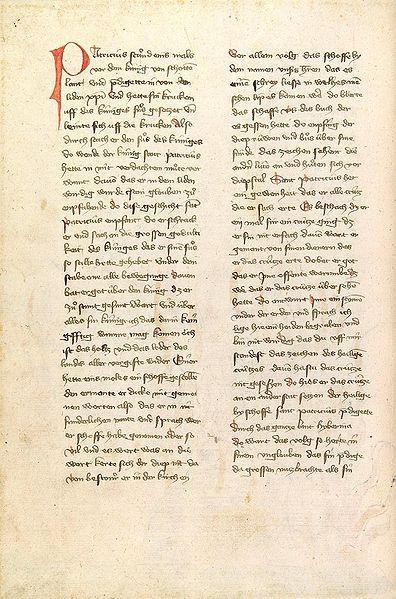 Page from Legenda Sanctorum (Golden Legend).