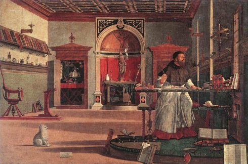 Vision of St Augustine by Vittore Carpaccio (click to see details of painting)
