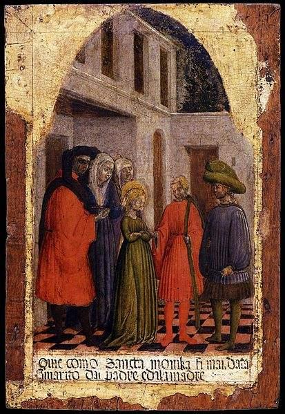 Marriage of St Monica by Antonio Vivarini