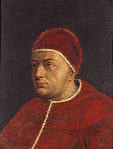 Painting of Pope Leo X by Peter Paul Rubens.