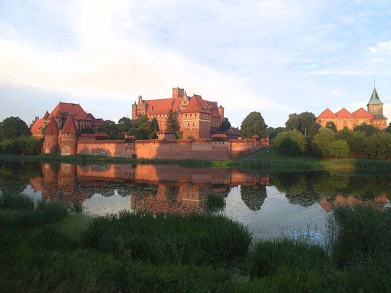 Marienburg Castle of the Teutonic Knights, in Malbork, Poland. Photo by Mestska