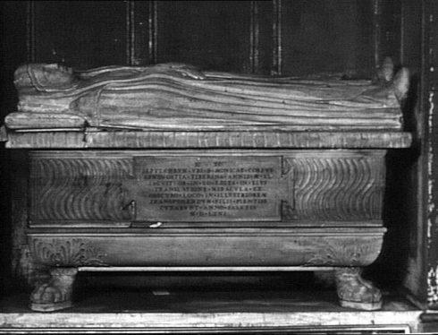 Saint Monica's tomb, in Sant'Agostino church at Rome, by Isaia da Pisa.