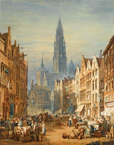 Antwerp, 1823, by Samuel Prout