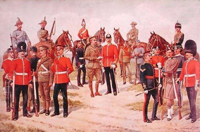 Types of the Territorial Army, from The Graphic, 1910