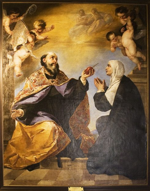 St. Monica with her son, St. Augustine
