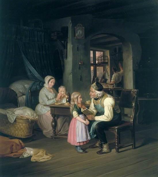 Painting by Friedrich Edouard Meyerheim