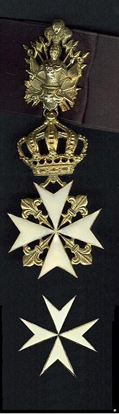 Medals of the Knight of the Sovereign Military Order of St. John of Jerusalem and Malta.