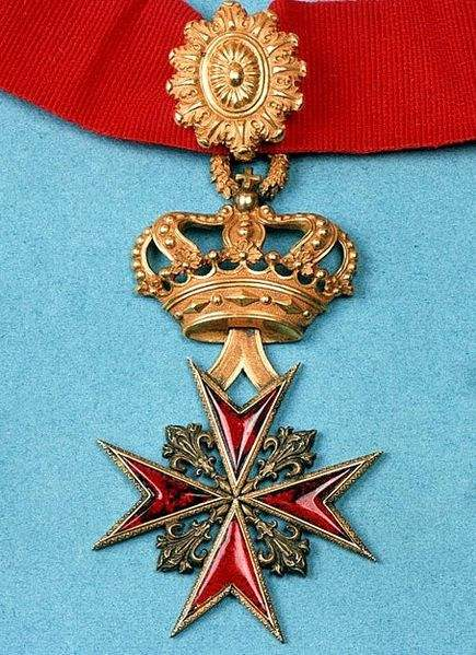 Insignia of the Order of St. Stephen, also called: Holy Military Order of St. Stephen Pope and Martyr. Photo by Magnus Manske