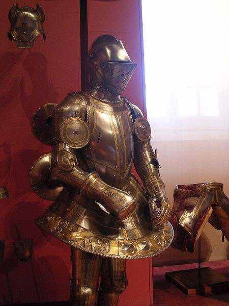 The Armor of a Spanish Knight. Photo by Fale