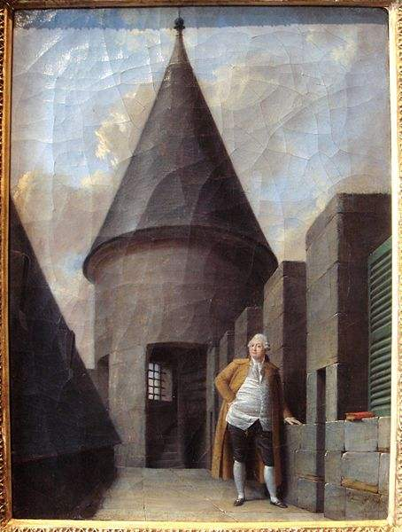 King Louis XVI in prison, painted by Jean Francois Garneray.