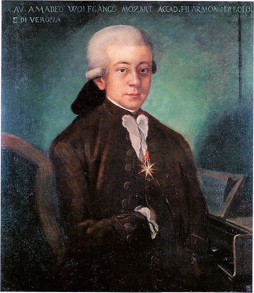Wolfgang Amadeus Mozart with the medal of the Order of the Golden Spur. HRH Jean, Grand Duke of Luxembourg, is at this moment the only living Knight of this Order.