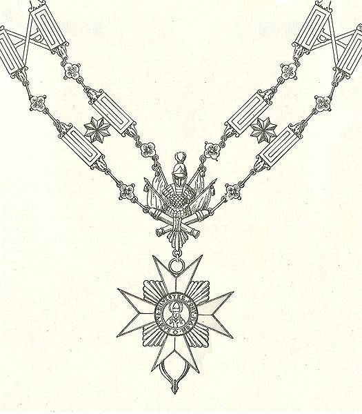 Golden Chain of the Order of Saint Sylvester and the Golden Militia prior to 1905.