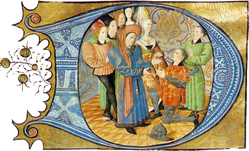 Charles d'Orleans receives the homage of a vassal.