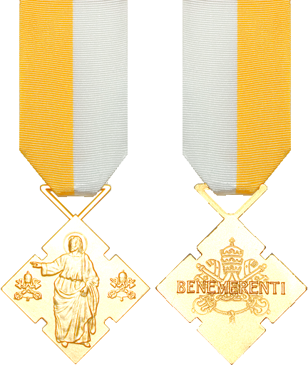The Benemerenti Medal, front and back. Photo by Mmmurf