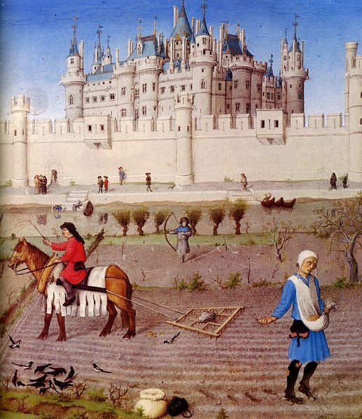 Detail from Les Très Riches Heures du duc de Berry's October