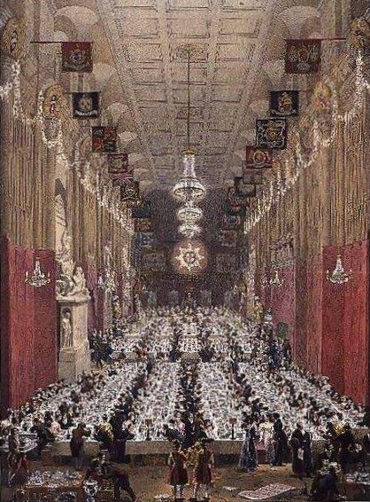 The Lord Mayors Dinner at the Guildhall, 9th November 1828
