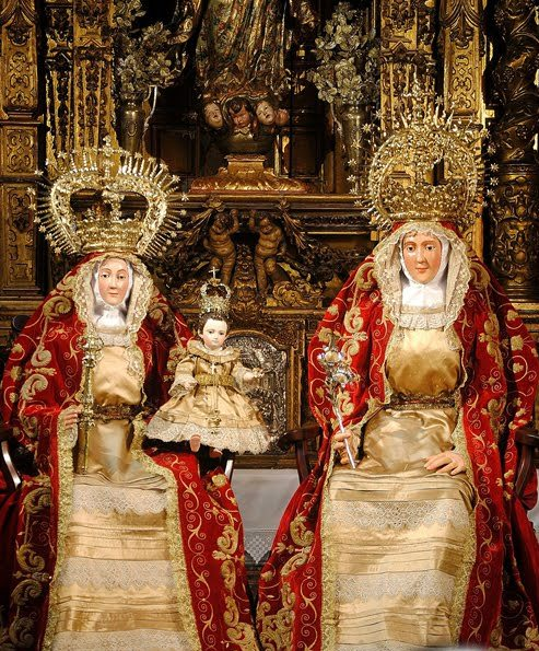 St. Anne, Our Lady and the Infant Jesus. Statue in Triana, Seville, Spain.