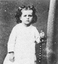 St. Thérèse, at age 3, in 1876.