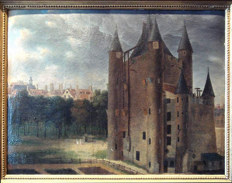 Painting of the Temple Tower, where Princess Élisabeth of France was imprisoned.